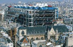 """Renzo Piano, """"Centro Pompidou en París"""""""