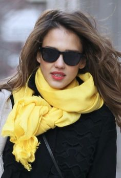 Springtime, Lipstick + Yellow Scarf  http://www.glamour.com/beauty/blogs/girls-in-the-beauty-department/2012/03/one-color-combination-that-mak.html