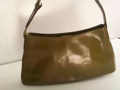 HOBO International, Leather Shoulder Purse/Handbag - Olive Green = Free USA Ship