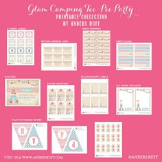 Glam Camping Girl Camping Party Tee Pee Printables Collection