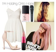 """""""Holding Onto Hope /// Chae's First Performance"""" by moonlight-princess-of-the-stars ❤ liked on Polyvore featuring GABALMANIA, Jeane Blush, Liliana, MAC Cosmetics, Sennheiser and NARS Cosmetics"""