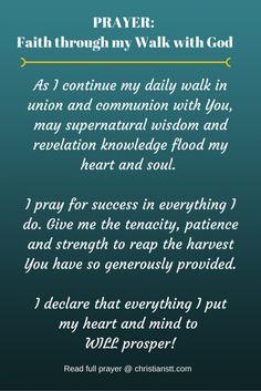 PRAYER: Faith through my Walk with God