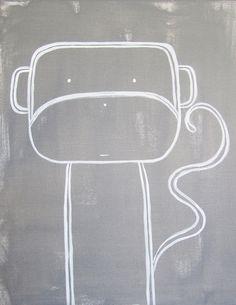 No. 0010 - Modern Kids and Nursery Art - The Monkey Art Print