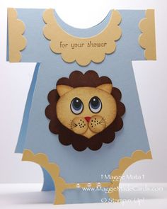 Mr. Lion Baby Shower Card New Kit Promotion