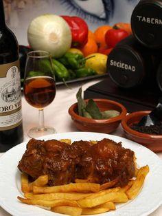 Receta de Rabo de Toro Cordobes sin gluten del Restaurante Sociedad Plateros Maria Auxiliadora. Adaptamos nuestros platos para los celiacos.