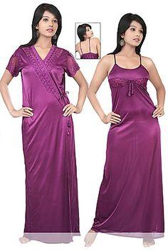 Teleno Purple 2 Piece Women Nightwear 5eb7bf221