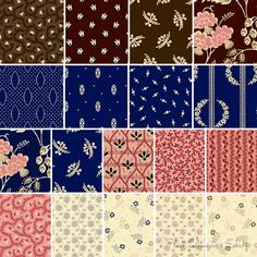 Strawberries, Blueberries and Chocolate by Judie Rothermel for Marcus Brothers Fabrics. Perfect for the reproduction lover!