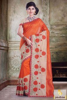 Fashionable brown orange silk chanderi designer saree 2016 in very cheap cost on pavitraa fashion. This embroidery designer saree looks very glamorous. Shop now.  #sari, #festivalwearsaree, #designersarees, #sareesonline, #sareeonline, #Indiansaree, #valentinegift, #partywear, #buysilksarees, #onlinesarees, #newsarees, #fashionsarees, #beautifulsaree, #trendysarees, #lowestpricesarees, #discountoffer More Product:  http://www.pavitraa.in/store/designer-sarees/  Any Query: Call…