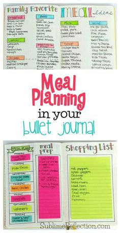 Learn more about ** Come see how I exploit my Bullet Journal to make meal planning even simpler! I'...