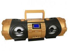 Som Portátil USB MP3 CD FM Bluetooth Boombox - com Controle Remoto - Lenoxx