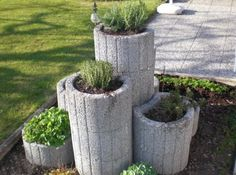 Fantastic Photo outdoor garden planters Strategies Planting containers, tubs, and 50 percent casks stuffed with blossoms add appeal for any backyard, nevertheles. Garden Planters, Outdoor Gardens, Diy Herb Garden, Garden Design, Garden, Herb Garden, Garden Pots, Plants, Backyard Landscaping