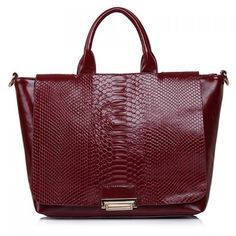Fashionable Snake Print and Solid Color Design Women's Tote Bag