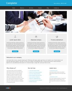 48 best free business html templates images on pinterest html complete is a free business html template designed in a clear and modern style for all friedricerecipe Choice Image