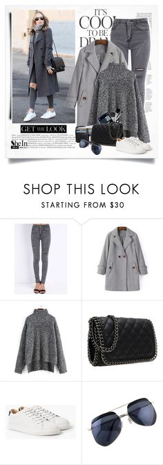 """""""Street style - grey"""" by yexyka ❤ liked on Polyvore featuring Anja, Emma Watson, MANGO, women's clothing, women, female, woman, misses and juniors"""