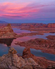 Alstom Sunset Lake Powell Utah // Dustin LeFevre