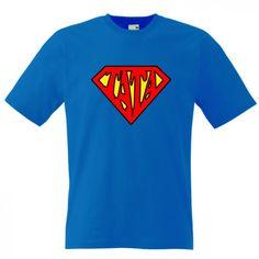 Tricou pentru SuperTata Este un avion? Este o pasare? Nu. Este SuperTata ce poarta un tricou pe masura. Pret: 23.9 ron Logos, Planes, Logo