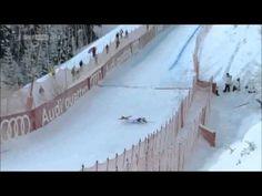 Peter Fill Downhill Crash Streif 2013 Kitzbühel