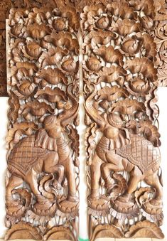 1 Set Extra Thick Headboard 60cm 200cm Mandala Lotus Flower | Etsy Wooden Wall Art Panels, Panel Wall Art, Decorative Panels, Wood Wall Art, Mandala Lotus Flower, Thai Decor, Elephant Wall Decor, Indian Doors, Pooja Room Design