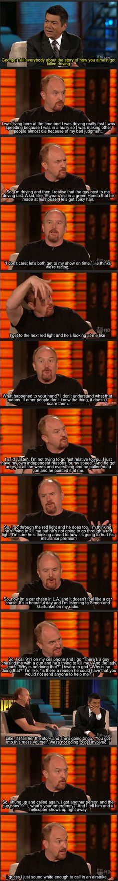 Louis C K's car chase