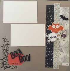 Love this Halloween page!! Created today with my girlfriends! ❤️ Thanks Sandra for the layout idea!!