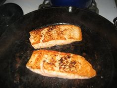 "Pan Seared Rock 1-2  lb rock sliced into steaks Olive oil Salt and pepper Drizzle fish with olive oil, season with salt and pepper. Heat about 1/5"" olive oil in a non-stick skillet to medium, carefully place fish meat side down let sear without moving until nice and brown, flip. Serve with Jazzed up rice"