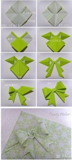 Gathering Beauty Diy Origami Bow Awesome And Easy And Perfect If