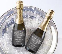 Personalized Mini Wine Bottle Labels - Eat, Drink, & Be Married