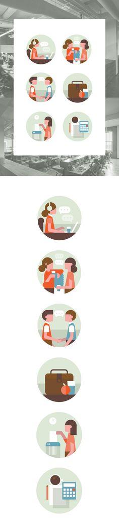 office spot illustrations on Behance