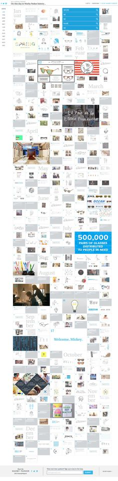 Warby Parker 2013 Annual Report - One Page Website Award One Page Website, Create Website, Digital Web, Mobile Web Design, Ui Patterns, Web Layout, Website Design Inspiration, First Page, Interactive Design