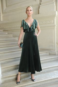 Olympia of Greece wearing a Valentino dress from the Fall/Winter 2016-17 Collection  to the Valentino Haute Couture Fall/Winter 2016 - 2017 Fashion Show on July 8th  2016.