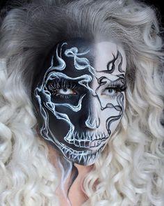 Body Makeup, Sfx Makeup, Makeup Inspo, Makeup Inspiration, Makeup Looks, Halloween Face Makeup, Make Up, Painted Faces, Cosplay