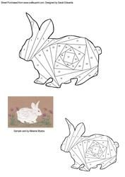 Rabbit Iris Folding Pattern