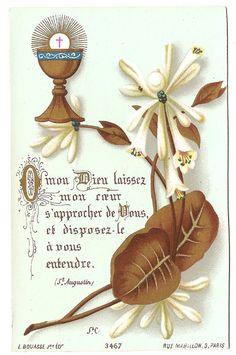Antique Vintage French Goldprint Holy Prayer by 12StarsVintage
