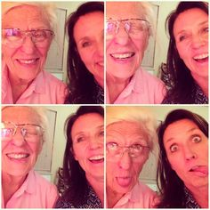 "Teaching my 81 year old mom what ""Selfies"" are... Happy Birthday mom #fortheloveofmom"
