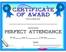 Editable quarterly awards certificate template deped tambayan ph teachers award your students who have achieved perfect attendance by giving them a perfect attendance award certificates yadclub Gallery