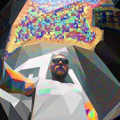 Polyglith  #glitch #selfie #poly #polygon #art #psychodelic