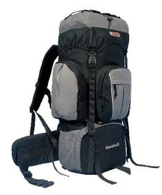 Amazon.com: CUSCUS 5400ci 75+10L Internal Frame Backpack Hiking Camp Travel Bag Gray: Sports & Outdoors - $49