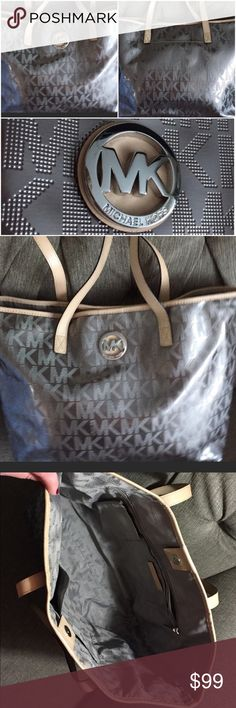 EUC 🛍 Authentic MK Tote 🛍 Metallic Tones 🛍 EUC 🛍 Authentic MK Tote 🛍 Metallic Tones 🛍 Silver hardware 🛍 Large and plenty of Compartments to keep organized. Outside pocket for Smartphone! Great everyday bag! Michael Kors Bags Totes