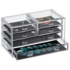 The Container Store  6-Drawer Premium Acrylic Chest