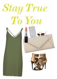 """Stay True To You"" by fredericaehimen ❤ liked on Polyvore featuring Topshop, Via Spiga, ALDO, MAC Cosmetics, Michael Kors and GUESS"