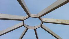 Kiosco Octogonal con tejado a 16 aguas de madera Cúpula