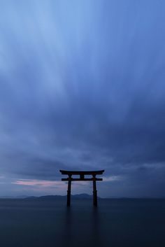 Torii of Shirahige shrine at Shiga prefecture, Japan. Taken with ND8 filter, 30 seconds exposure.