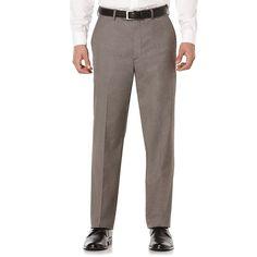 Savane Premium Flex Gab Stretch Dress Pants, Men's, Size: 33X32, Beig/Green (Beig/Khaki)