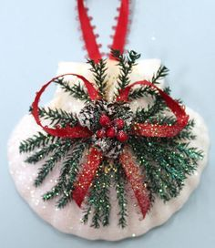 Irish Scallop Pinecone Christmas Ornament (http://www.caseashells.com/irish-scallop-pinecone-ornament/)