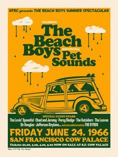 The Beach Boys Serigrafía 2 tintas Edición de 25 ejemplares
