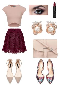 """""""Date Night"""" by willow-wants on Polyvore featuring Bebe, M.N.G, Anabela Chan and NARS Cosmetics"""
