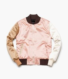 NEEDS&WANTS Studios — minimal, post-modern outerwear › http://needsandwantsstudios.com/products/satin-souvenir-rosegold #needsandwantsstudios #fashion #varsity