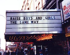 Raise boys and girls the same way