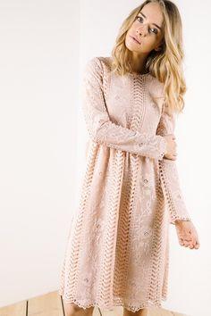 The Gemma Lace Dress in Blush