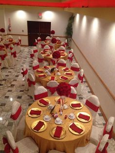 Red White And Gold Quinceañera Party Ideas Party Decorations